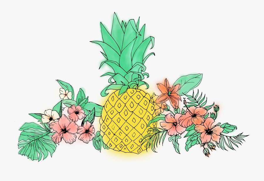 Fruit Clip Art Tropical - Pineapple Tropical Clipart Png, Transparent Clipart