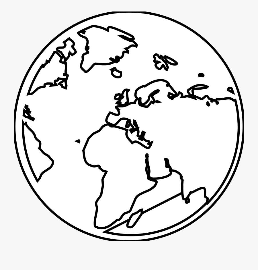 Sun Moon And Earth Clipart Black And White - Earth Planet Black And White Png, Transparent Clipart