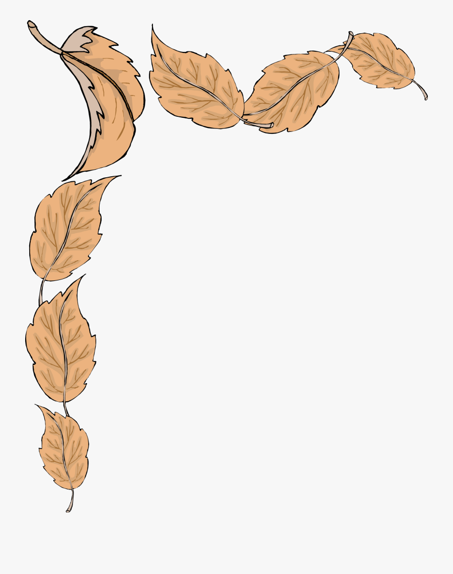 Fall Leaves Border, Transparent Clipart