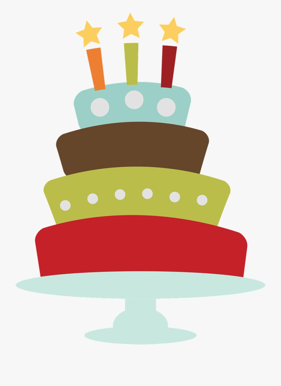 Birthday, Cake, Clip Art - Birthday Cake Vintage Png, Transparent Clipart