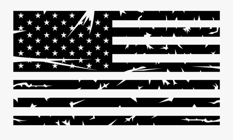 Clip Art Black And White American Flag Clip Art - American Flag Png Black And White, Transparent Clipart