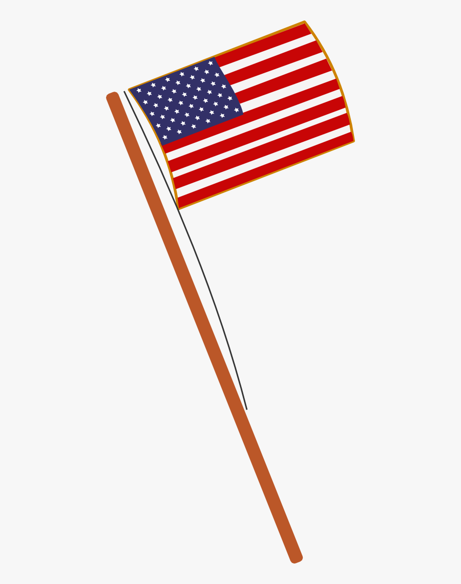 Eye Draw It - American Flag Drawing Small, Transparent Clipart