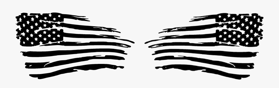 American Flag Cliparts Png Clipart Black - Distressed American Flag Clipart, Transparent Clipart