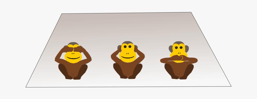 Yellow,monkey,three Wise Monkeys - Gandhiji Three Monkey Draw, Transparent Clipart