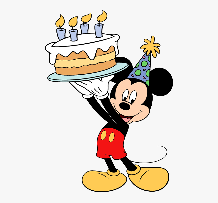 Mickey Mouse Happy Birthday Coloring Page , Free Transparent Clipart -  ClipartKey