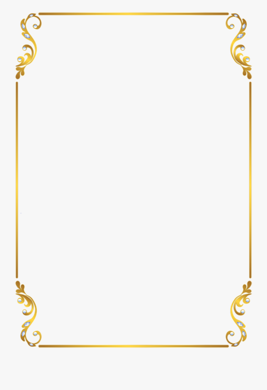 Transparent Medical Border Clipart - Golden Frame Border Png, Transparent Clipart