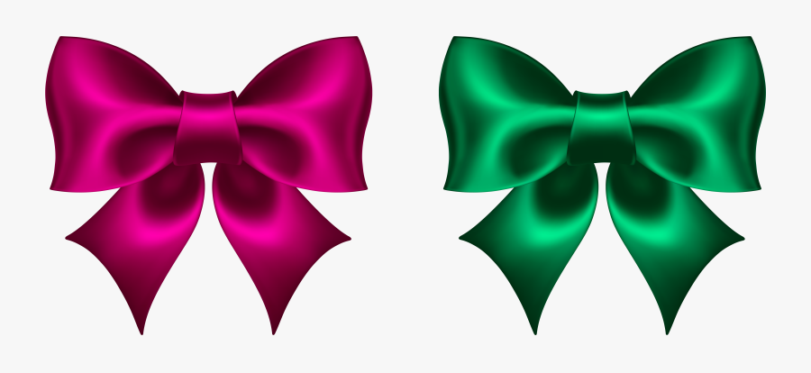 Green Bow Clipart, Explore Pictures - Pink And Green Bow, Transparent Clipart