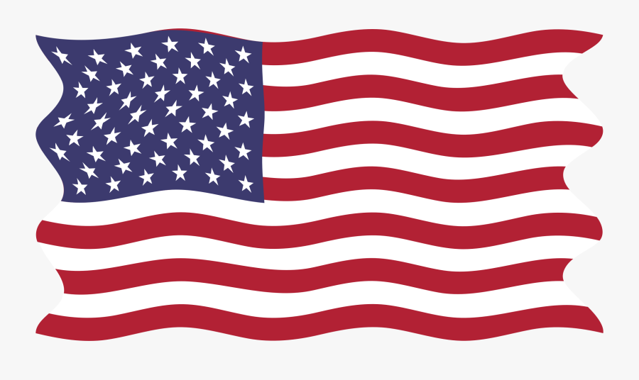 Clipart - American Flag Map Png, Transparent Clipart