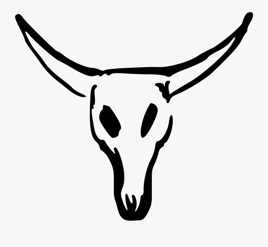 Valessiobrito Cow Skull Svg Clip Arts - Bull Skull Drawing Easy, Transparent Clipart
