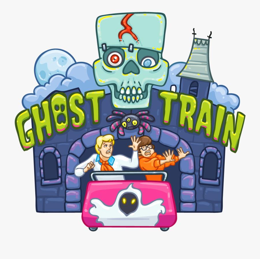 Ghost Train - Ghost Train Ride Clipart, Transparent Clipart