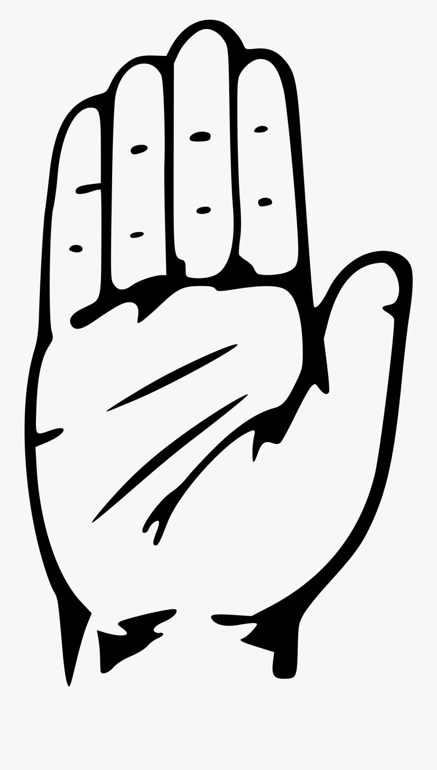 Closed Hand Clipart Free Clipart Image Image - Logo Indian National Congress, Transparent Clipart
