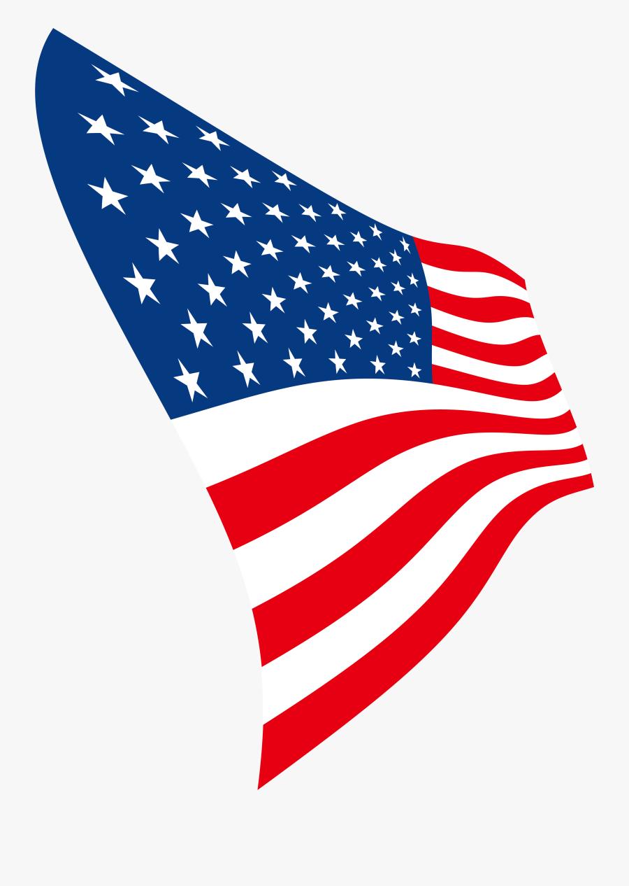 American Flag Design Png - Bandera De Estados Unidos Plana Png, Transparent Clipart