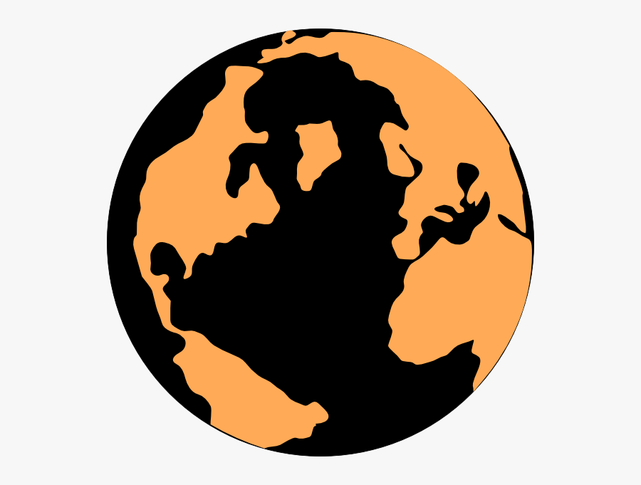 Orange And Black Globe Clip Art - Red And Black Earth, Transparent Clipart