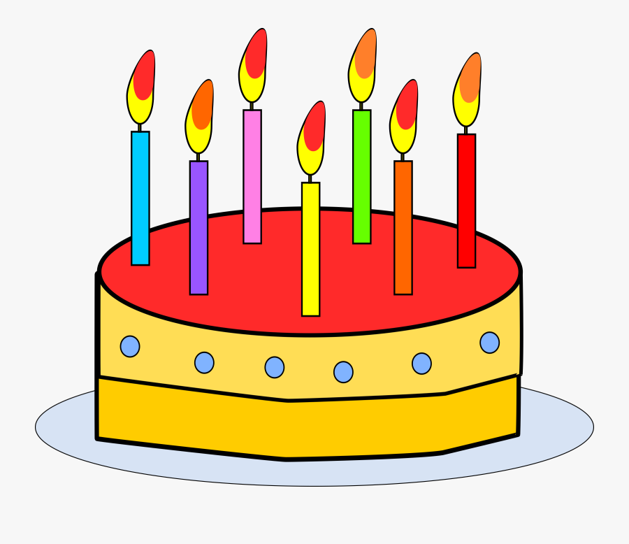 Cake Decorating Cliparts - Birthday Cake With Candles Clipart, Transparent Clipart