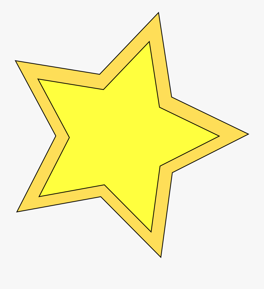 Yellow Star Free Download - Yellow Printable Star Template, Transparent Clipart