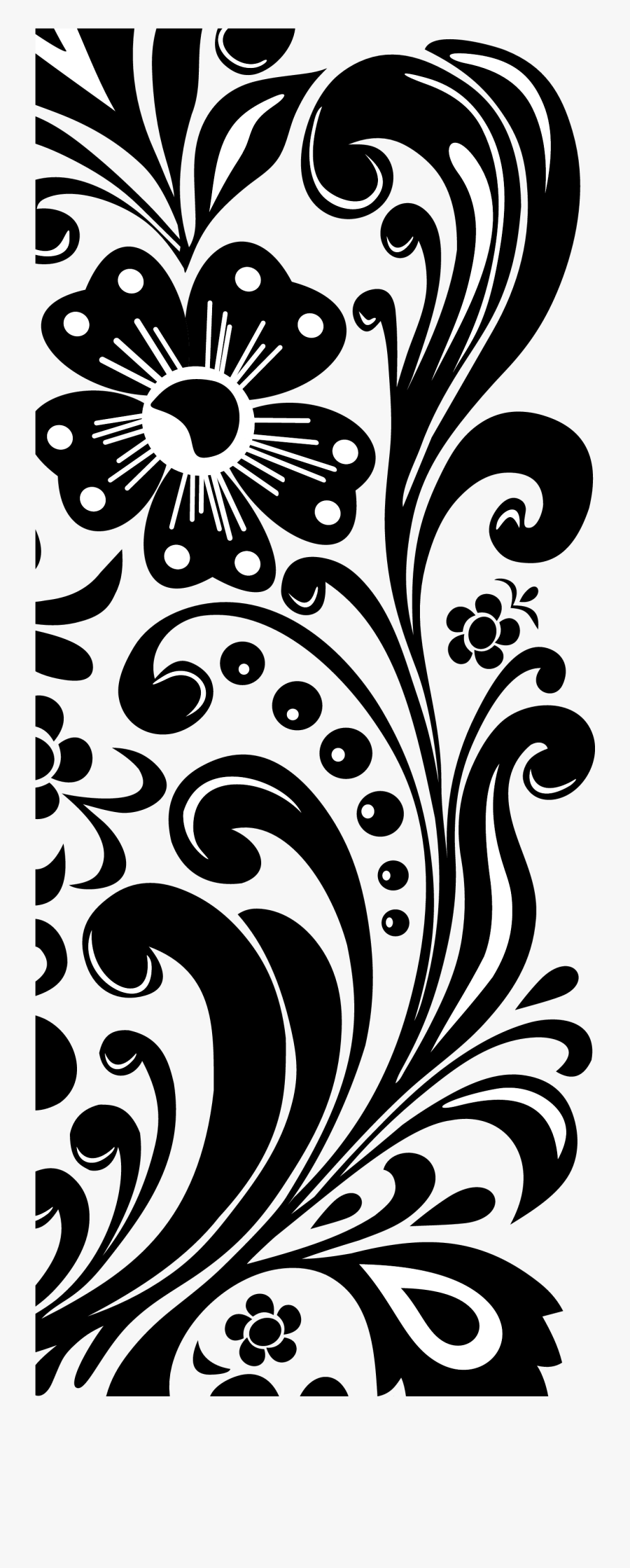 Vector Black And White Download Flower Border Clipart Blank Wedding Invitation Templates Black And White Free Transparent Clipart Clipartkey