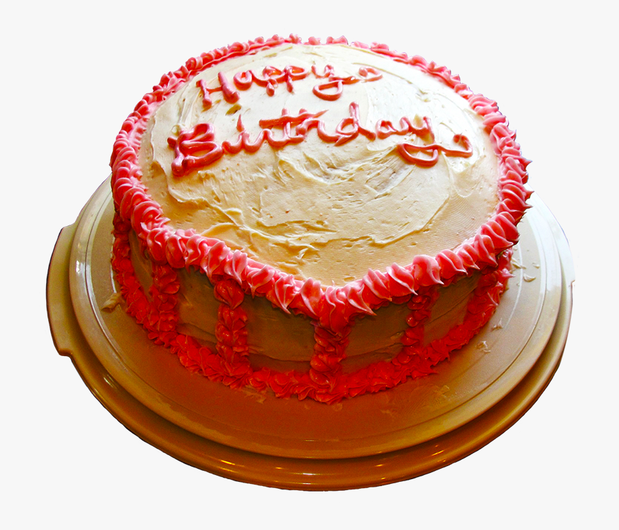 Clip Art And Free - Happy Birthday Pink Red Cake, Transparent Clipart