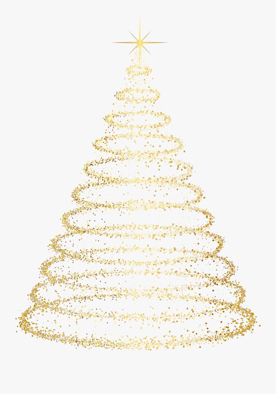Clip Art Gold Transparent Effects Png - Transparent Background Transparent Christmas Tree Clipart, Transparent Clipart