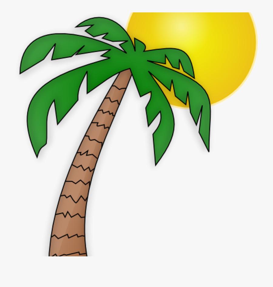Palm Tree Clip Art Free Palm Tree Clip Art Transparent - Palm Tree & Sun, Transparent Clipart