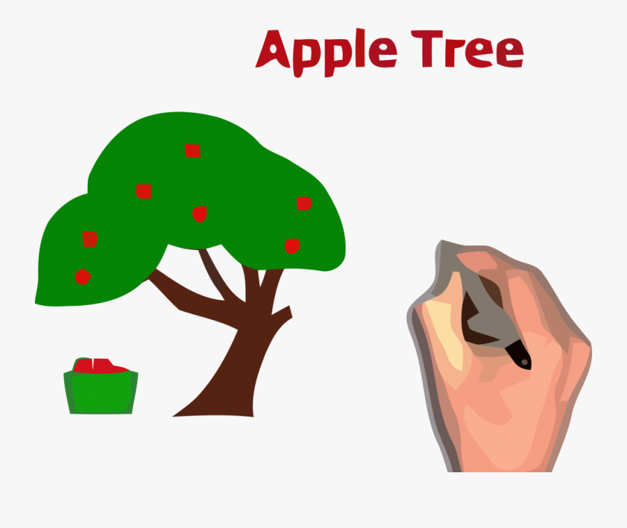 Apple Tree Clipart Tall - Apple Tree Clip Art, Transparent Clipart