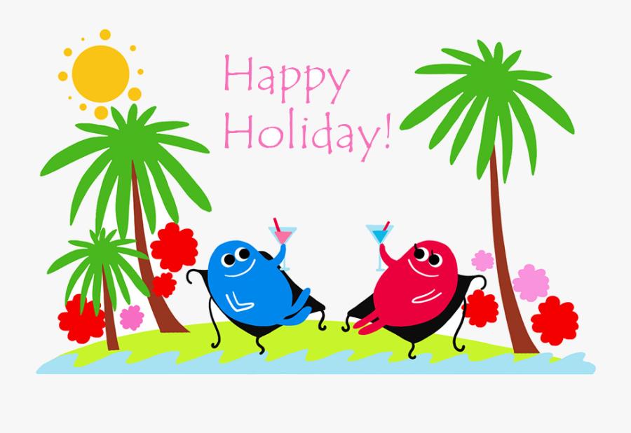 Holiday Happy Holidays Summer Clip Art Graphics Transparent - Happy Summer Holidays Clipart, Transparent Clipart