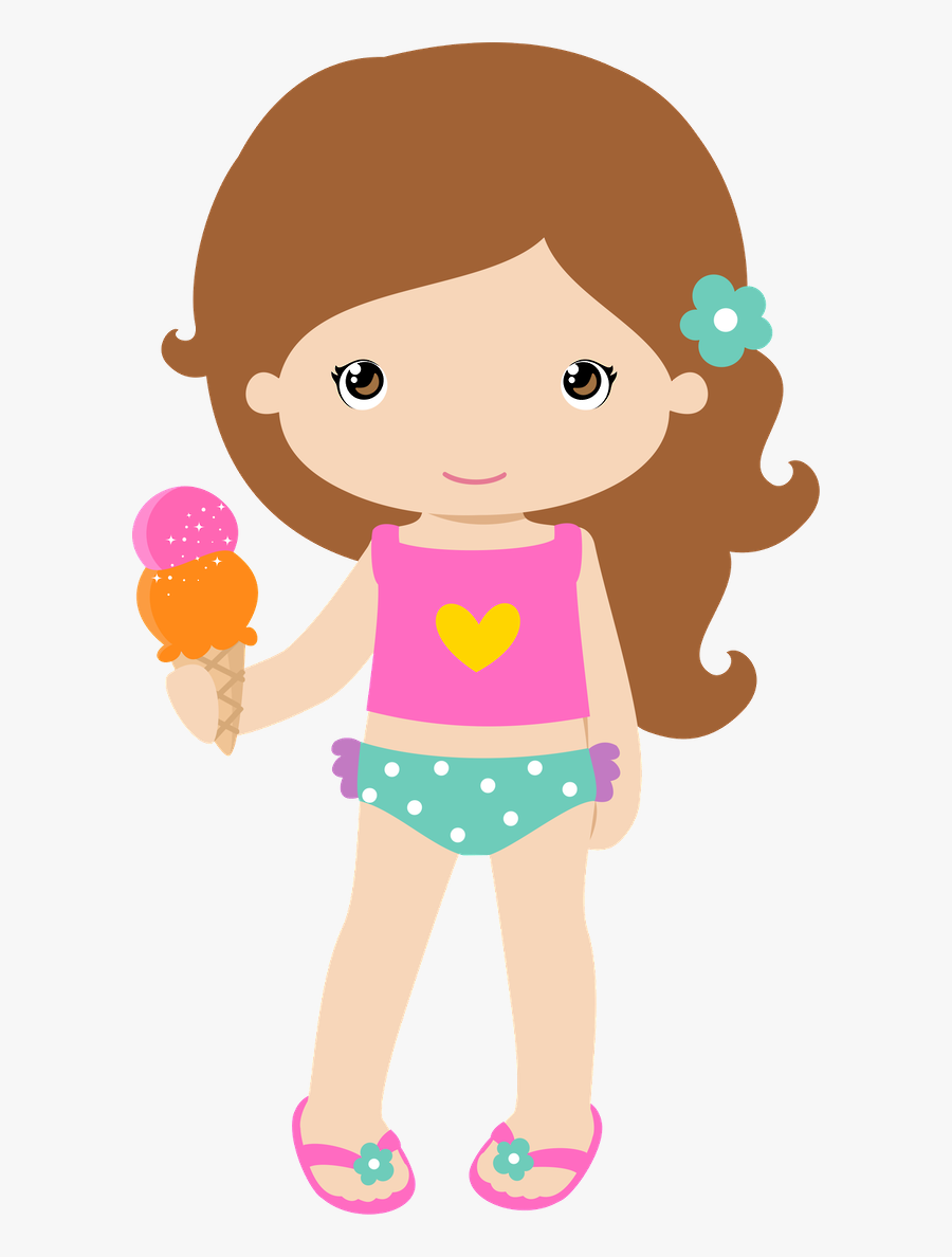 Surfer Clipart Summer Girl - Pool Party Girl Png, Transparent Clipart