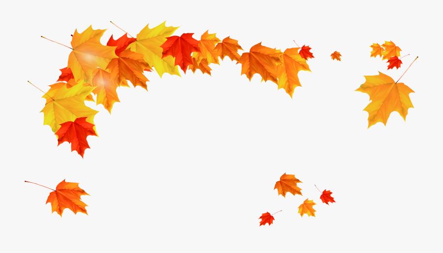 Maple Leaf Clipart Watermelon - Fall Leaves Autumn Png, Transparent Clipart