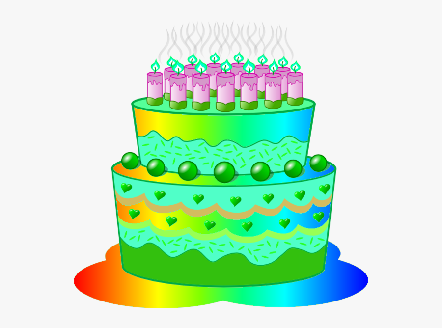 Green Birthday Cake Clip Art ~ Perfectend For - Birthday Cake For Classroom, Transparent Clipart