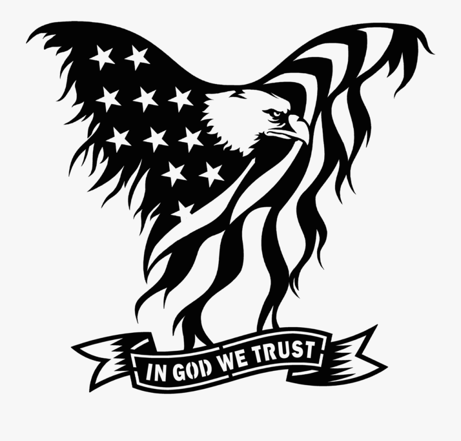 This Listing Is For - God We Trust Eagle, Transparent Clipart
