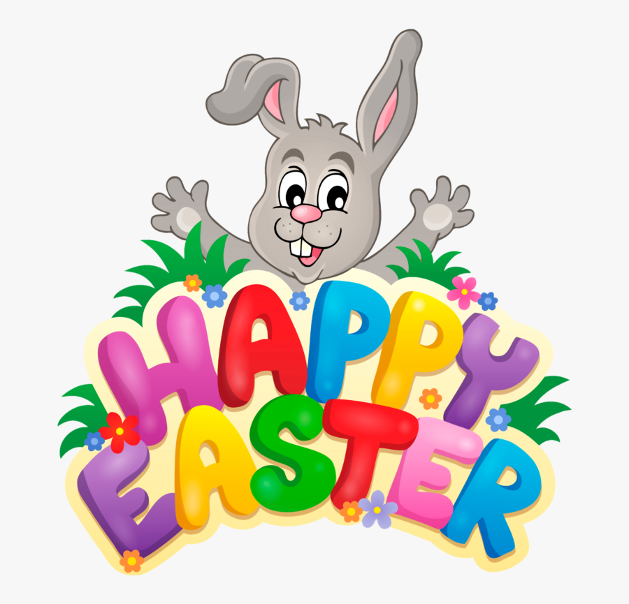 Transparent Happy Easter With Bunny Png Clipart Picture - Happy Easter Clipart, Transparent Clipart