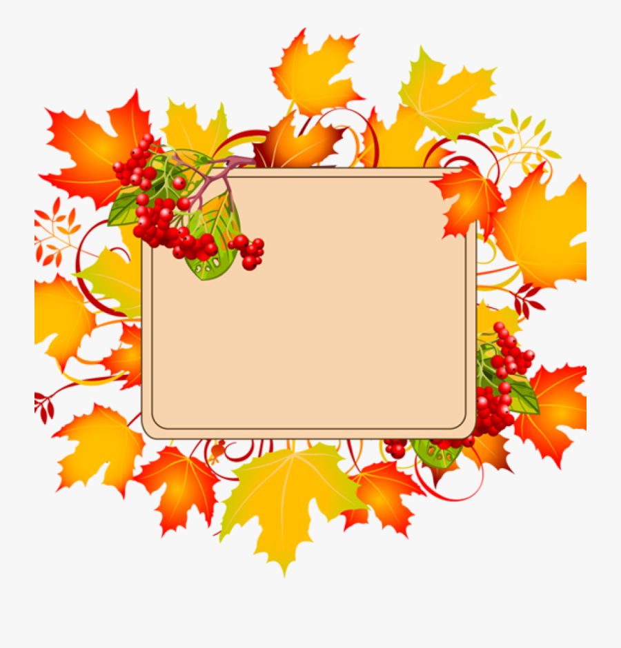 Transparent Fall Leaves Corner Border Png - Fall Border Clipart Free, Transparent Clipart