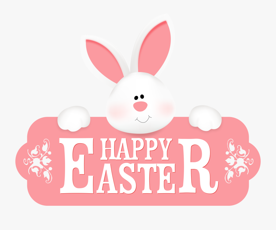 Happy Easter With Bunny Clipart Image - Happy Easter Png, Transparent Clipart