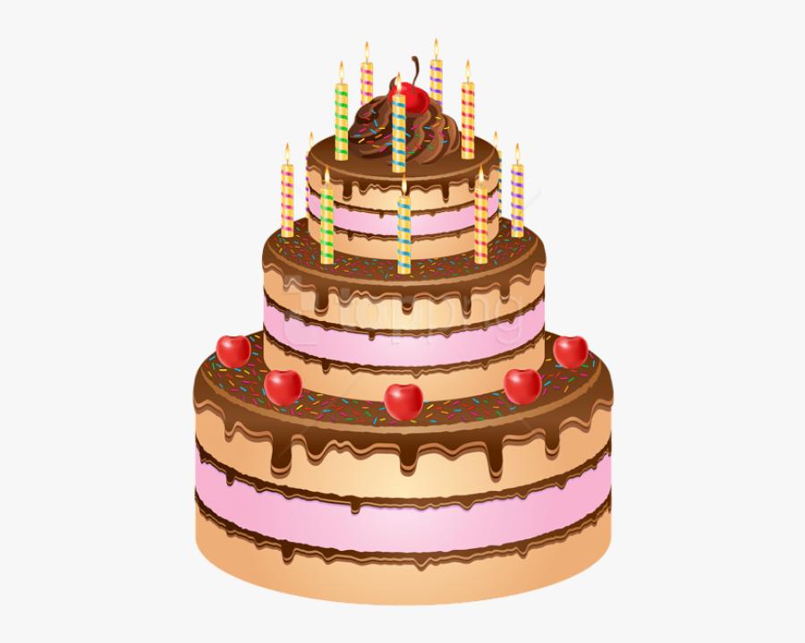 Cake,baked Goods,cake Paste,chocolate Cake,buttercream,cake - Happy Birthday Cake Png, Transparent Clipart
