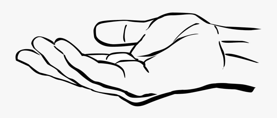 Hand Clipart Open - Clipart Open Palm Hand, Transparent Clipart