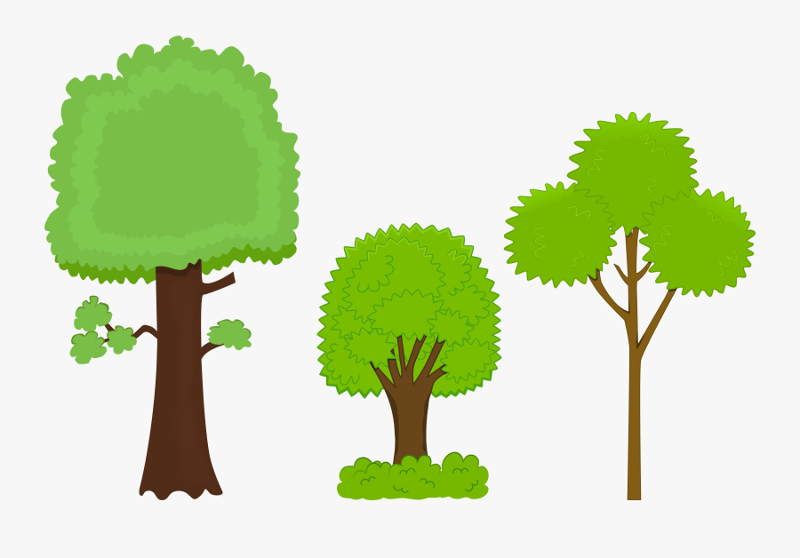Tree Clipart Animated - Big Tree And Small Tree Clipart, Transparent Clipart
