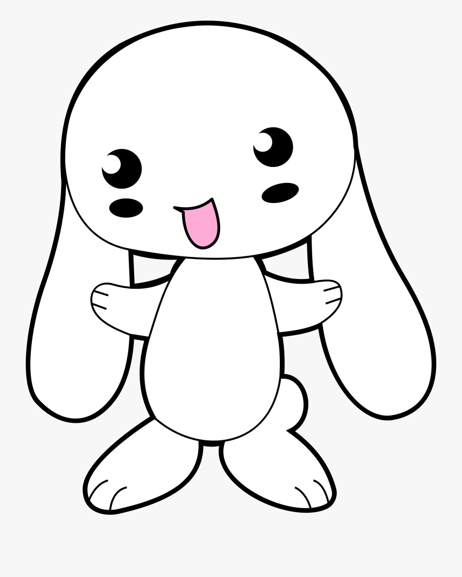 - Easy Cute Cartoon Rabbit Drawing , Free Transparent Clipart