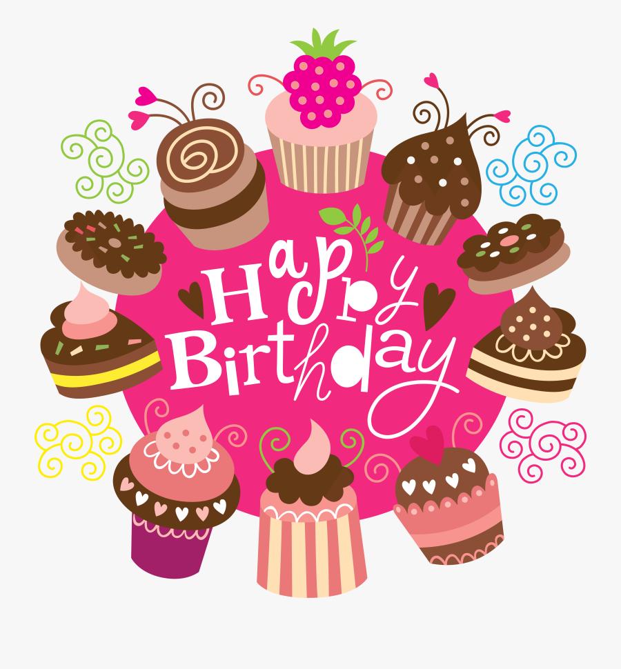 Dinosaur Clipart Birthday Cake - Happy Birthday Cake Clipart Transparent, Transparent Clipart