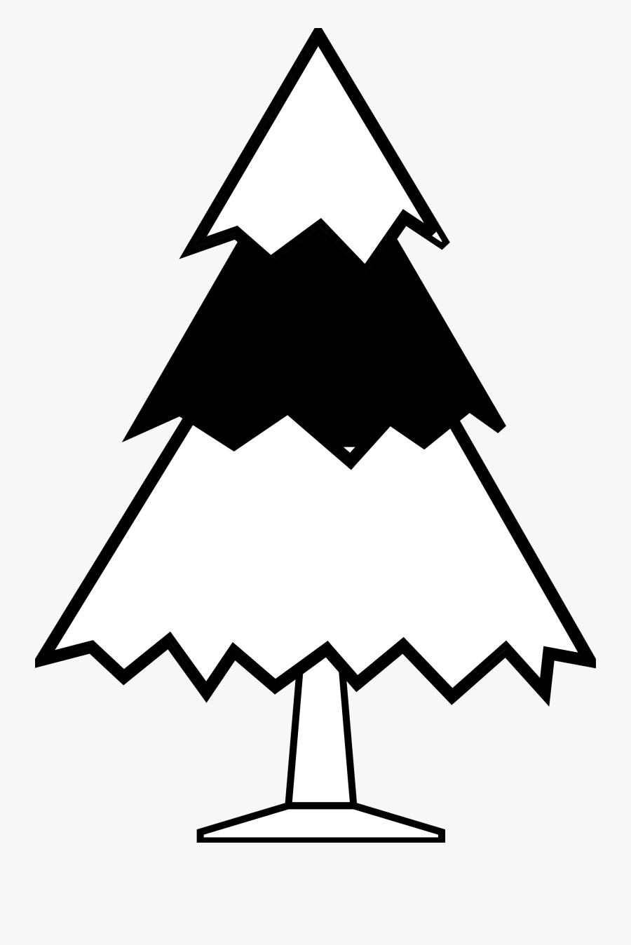 Tree Black And White Free Christmas Tree Clipart - Christmas Tree Clipart Drawing, Transparent Clipart