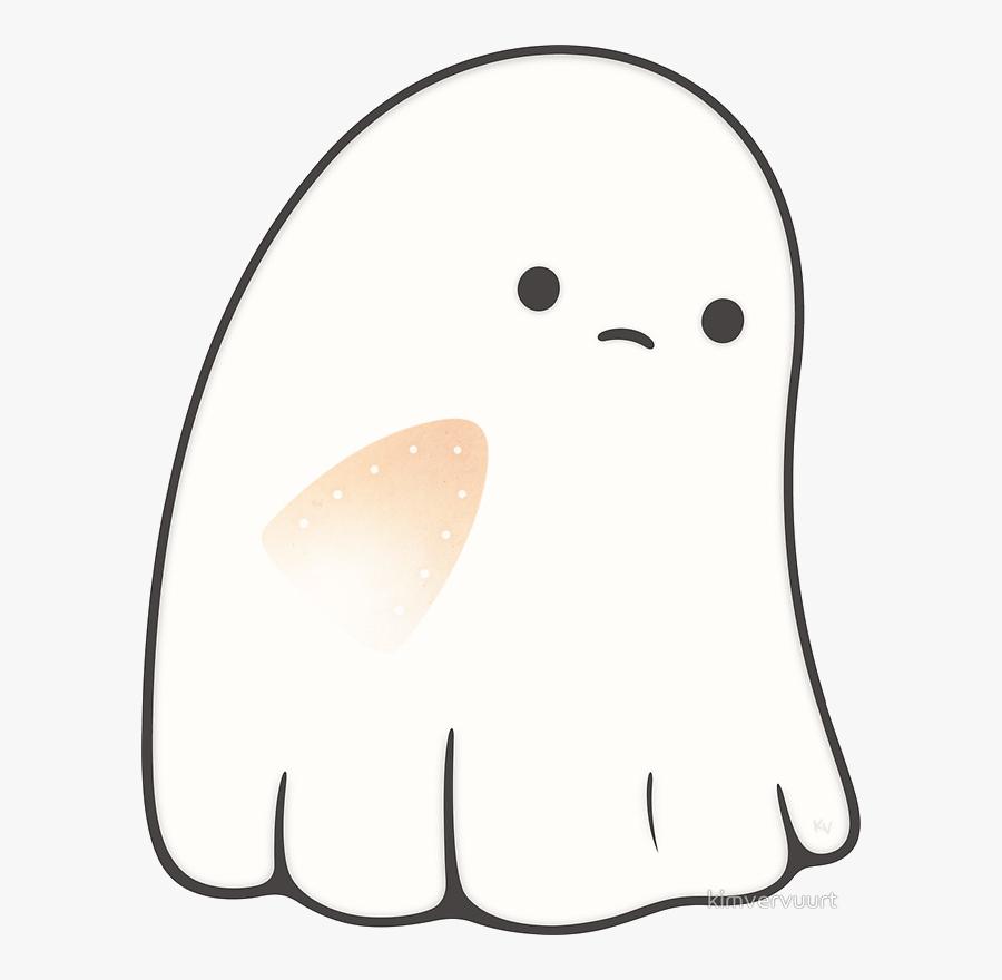 Ghost Cute Clipart Free Clip Art Transparent Png - Sad Ghost Clipart, Transparent Clipart