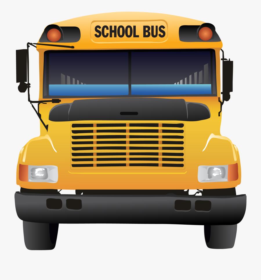 Front School Bus Clipart, Transparent Clipart