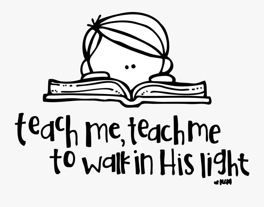 Reading Bible Clip Art Black And White, Transparent Clipart