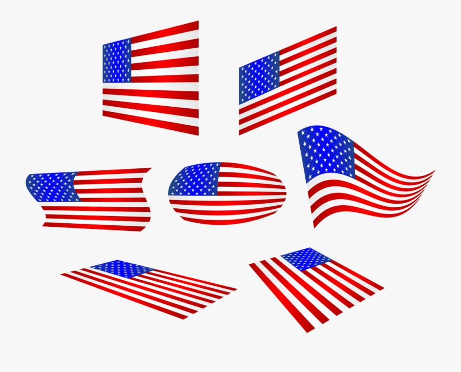 Transparent Bandera De Estados Unidos Png - American Flag Clip Art, Transparent Clipart