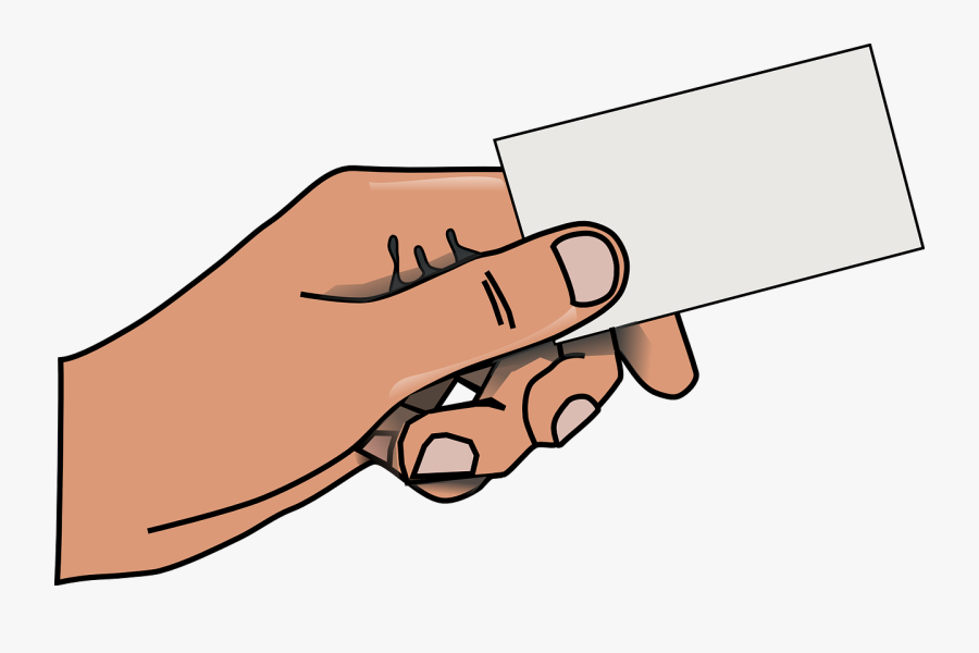 Hand Clipart At Getdrawings - Business Cards Clipart, Transparent Clipart