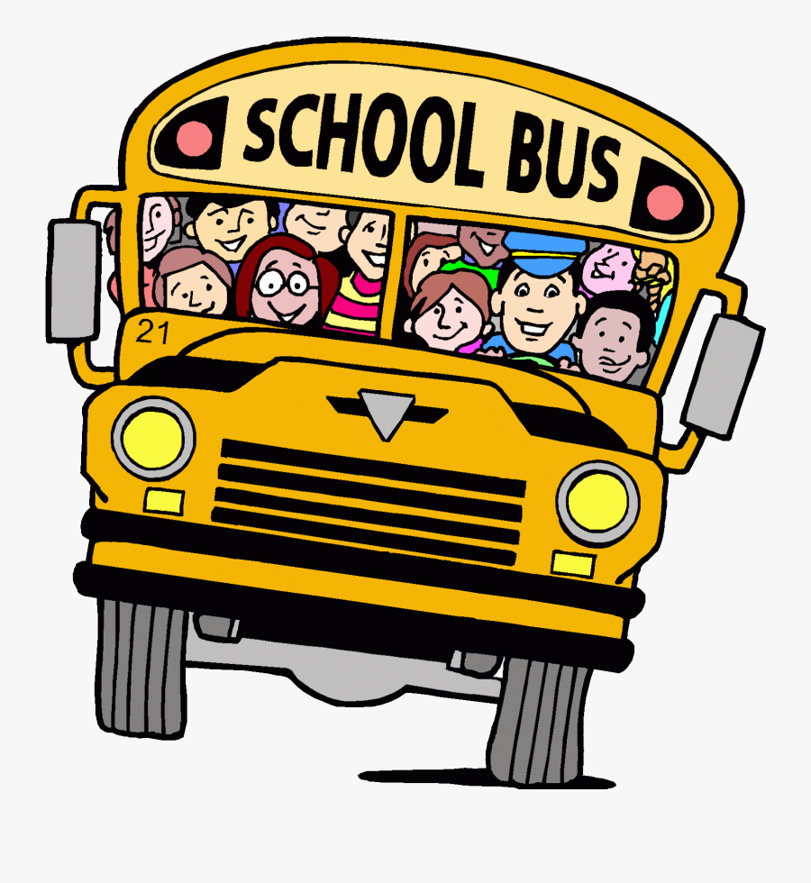 """""""when We Lived In A Big Jewish Community, My Kids Started - School Bus Cartoon, Transparent Clipart"""