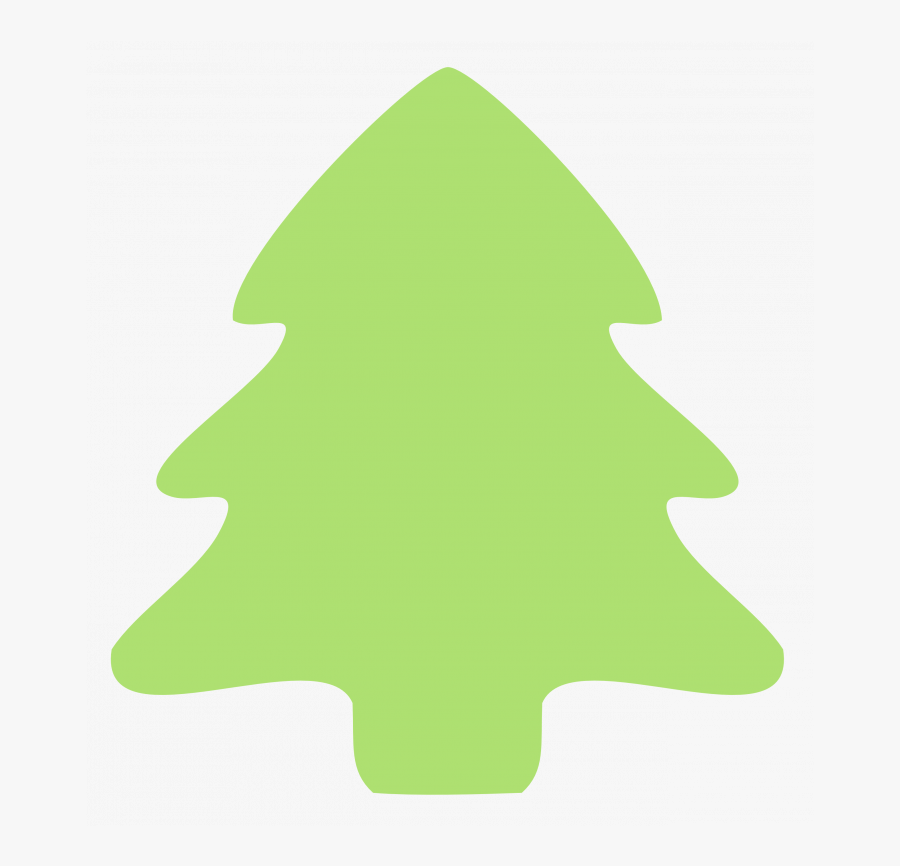Christmas ~ Christmas Tree Clip Art Simple Emoji Copy - Clipart Christmas Tree Simple, Transparent Clipart