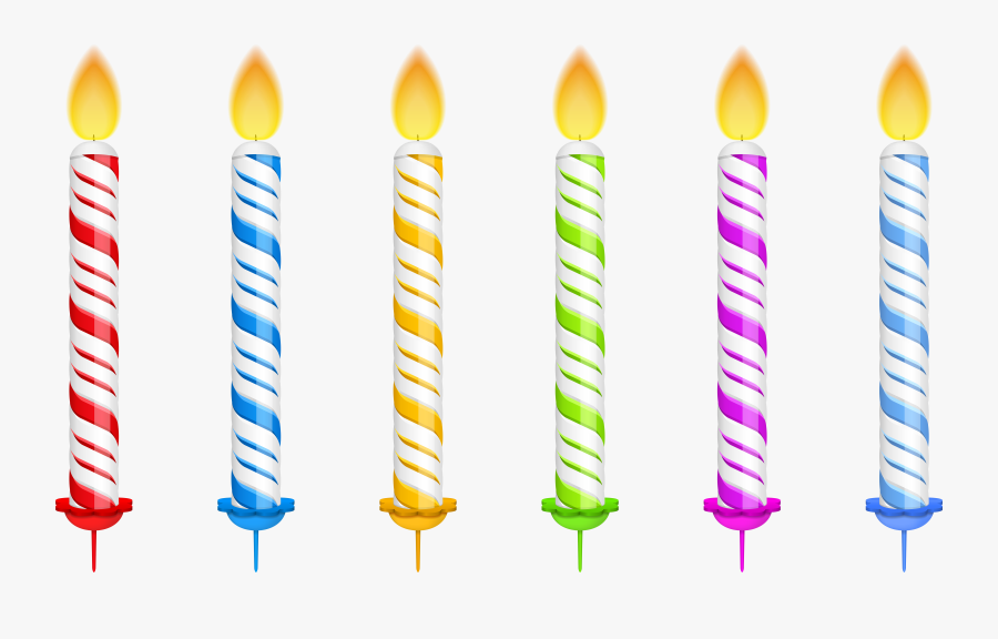 Clipart Birthday Candles - Vector Images Birthday Candles, Transparent Clipart