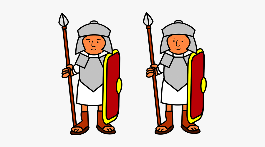 Ancient Rome Soldiers Cartoon, Transparent Clipart