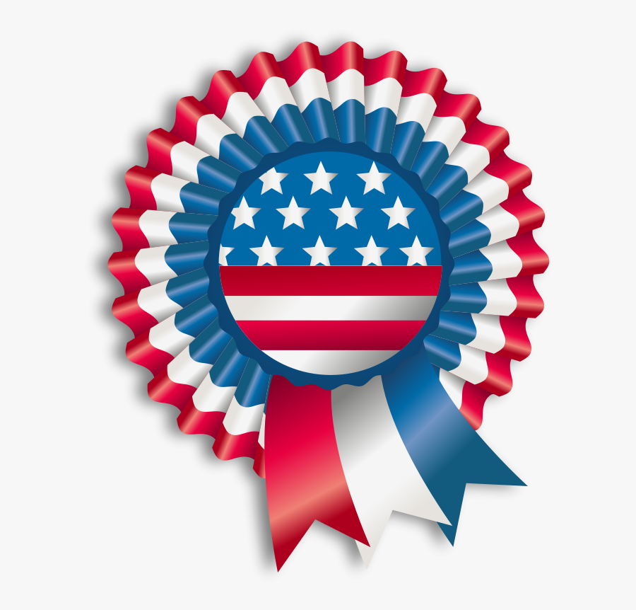 American Flag Clipart Red White Blue Ribbon - Indian Independence Day 2018, Transparent Clipart