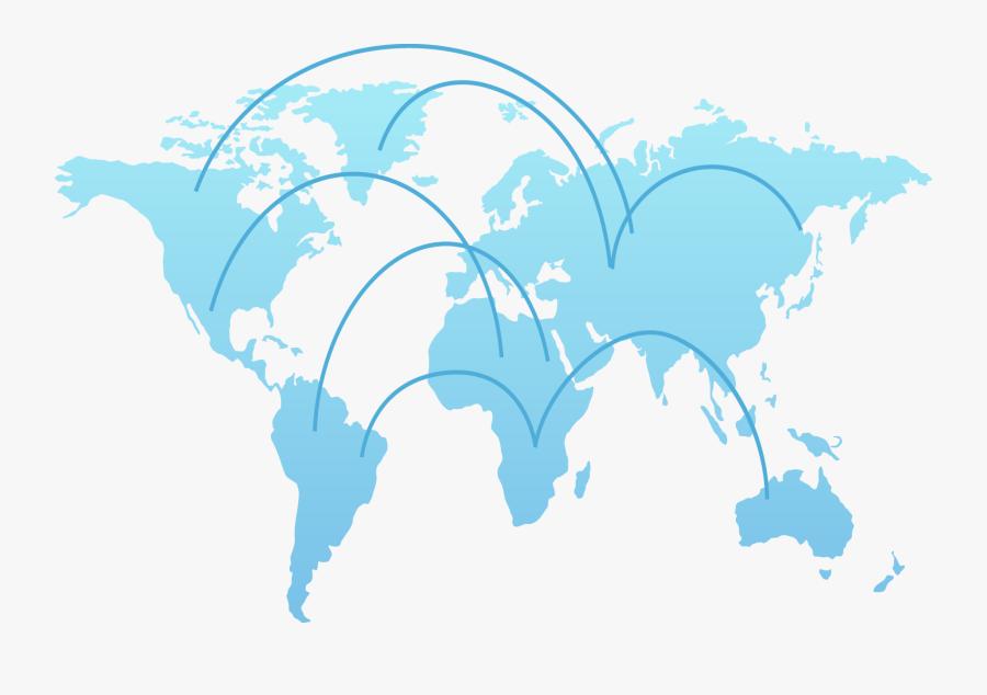 World Map Globe Clip Art - Vector Flat World Map, Transparent Clipart