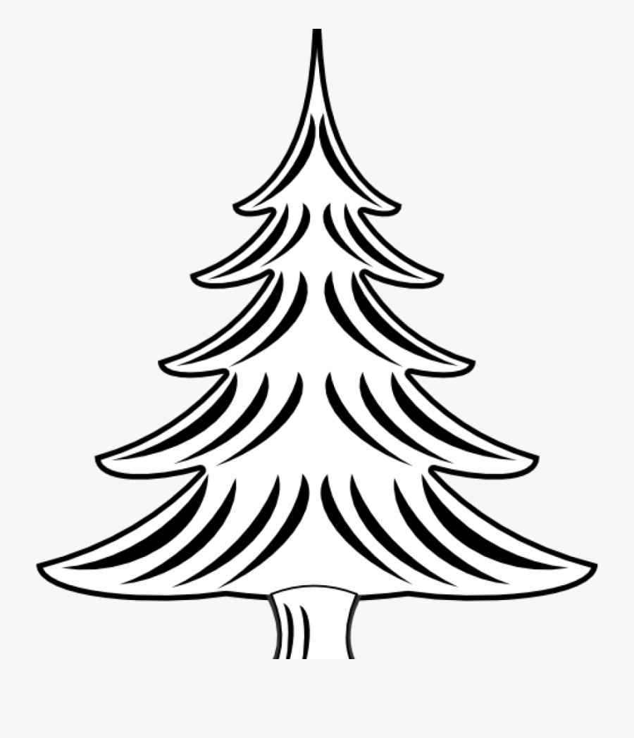 Christmas Tree Clipart To Print Gambar Sketsa Pohon Natal